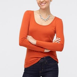 J.CREW LONG-SLEEVE SCOOPNECK TEE